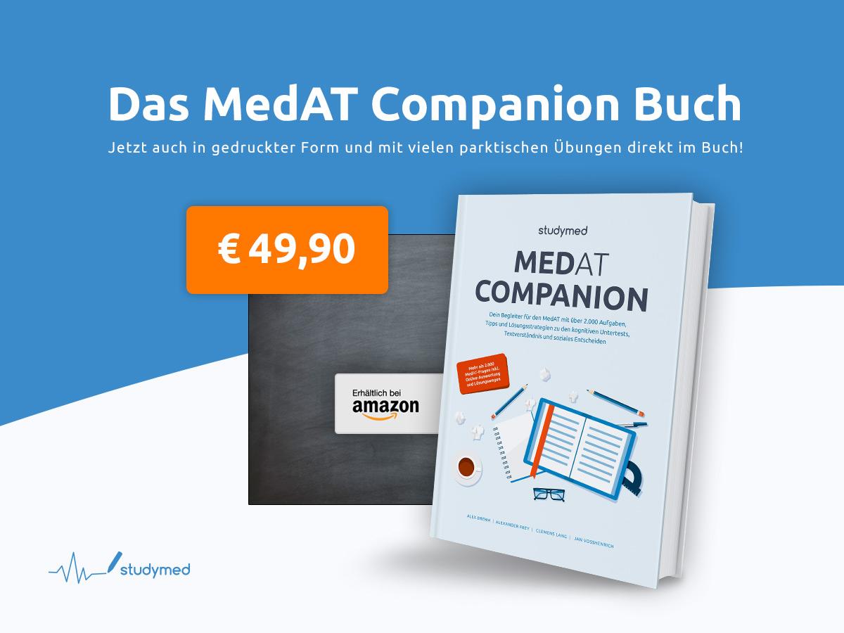 medat companion dein begleiter zur vorbereitung auf den medat 2018 mit uber 2 000 ubungsaufgaben